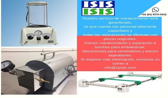 MANTENIMIENTOMAQUINAS DE EMBALSAMAR DESCENSORESELECTROASPIRADORESINFORMACION CLICK AQUI